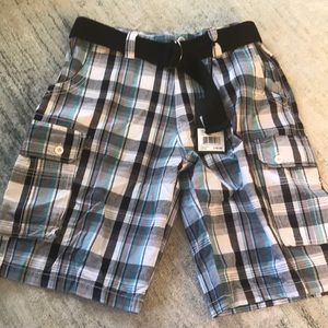 ✨Men's Plaid Cargo Shorts, Sz 32